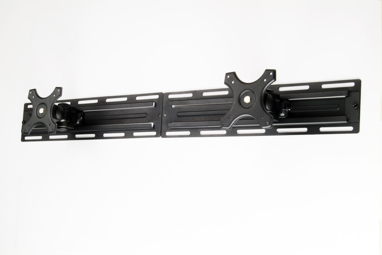 זרוע מסילה תעשייתית לשני מסכים עד 32 אינץ' חיבור צמוד לקיר עם צידוד והטייה TopTech Arm GT2130B Dual LCD Mount Up to