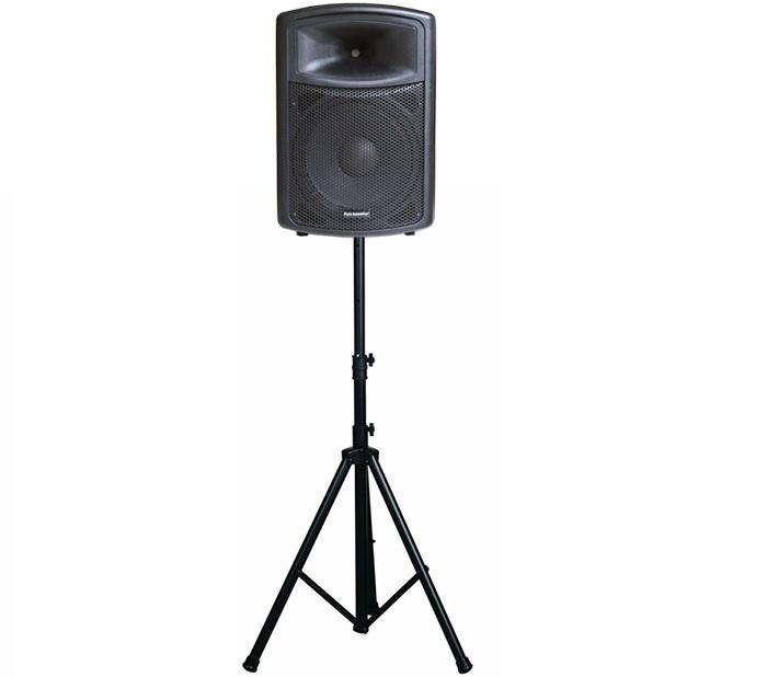 מעמד חצובה לרמקול מוגבר/בידורית, גובה מקסימאלי 180 מ''מ משקל נשיאה עד 45 ק''ג Audio Line DWD-202