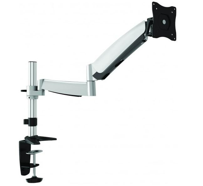 זרוע שולחנית דו מפרקית הידראולית אגומטרית ארוכה למסך מחשב עד 32'' עד משקל 9 ק''ג Lumi LDT04-C012 UP To 60cm