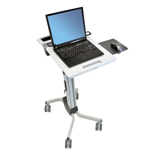 עמדת עבודה הידראולית ניידת שולחן למחשב נייד ישיבה ועמידה כולל כיוון גובה ארגוטרון Ergotron E-24-205-214 Neo Flex Laptop Cart