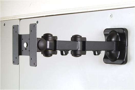 זרוע תעשייתית למסך על קיר עם ארבע מפרקים GoldTop Tech Arm GT178AB LCD Mount Black