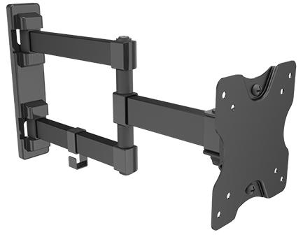 זרוע 3 מפרקים חיבור לקיר למסכים עד 32 תקן Audio Line SP100 VESA 75mm&100mm Low Cost Full-Motion TV Wall Mount