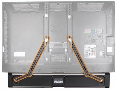 זרוע לרמקול סאונד בר מתלבשת על זרוע קיימת Lumi SB-41 Sound Bar Bracket for Mounting Below or Above Wall Mounted 23