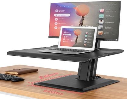 מעמד שולחני ישיבה עמידה הידראולי למחשב נייד מסך מחשב מקלדת ועכבר לגודל מסך עד 22-32'' עד משקל 2-11 ק''ג NB North Bayou ST15 Gas Strut Desktop Mount