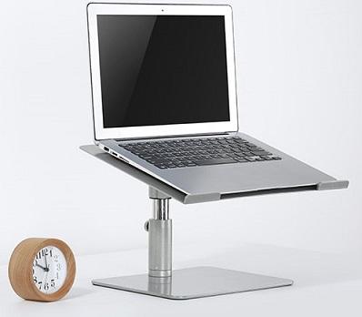 מעמד למחשב נייד עמדת די ג'י כולל כיוון גובה והטייה עם בסיס שולחני 11-17 אינצ' Lumi STB-073 Height Adjustable Laptop Riser