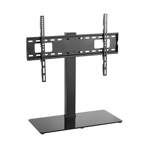 מעמד סטנד שולחני למסך טלוויזיה בסיס זכוכית 37-70 אינץ' עד 40 ק''ג LUMI LDT03-17L SWIVEL TV STAND WITH GLASS BASE